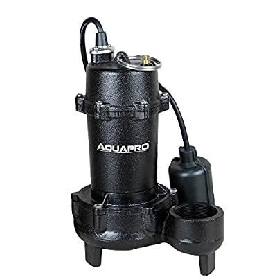Toucan City LED Flashlight and AquaPro 1/2 HP Submersible Effluent Pump with Piggyback Tether Float Switch 40011-3