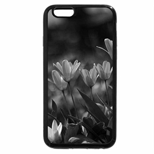 iPhone 6S Case, iPhone 6 Case (Black & White) - Lines of Flowers