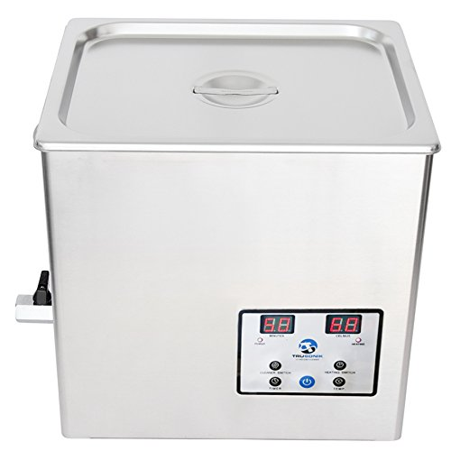 TruSonik 10L Digital Ultrasonic Cleaner With Heater | Industrial Stainless Steel Body, Tub, & Basket | Cleans Jewellery, Dental & Tattoo Equipment, Guns & Gun Parts, Car Parts & Carbs, & More by TruSonik
