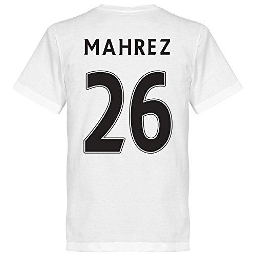 Leicester Mahrez 26 Maglietta a maniche corte della squadra, colore: bianco