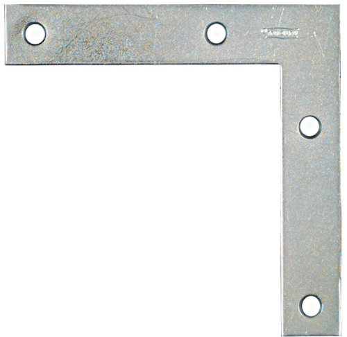 20 Pack National N234-955 5'' Flat Corner Brace - Zinc Plated by Stanley Hardware (Image #1)