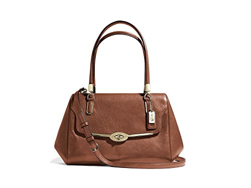 Coach Madison Small Madeline East/west Satchel (Light Gold/ Chestnut) (Madison Handbag Coach)