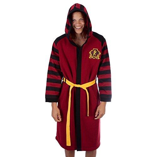 Bathrobe Costume Women (Harry Potter Gryffindor House Costume Sleep Bath Robe (Large/X-Large))