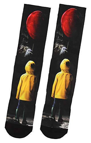 Stephen King IT Georgie And Pennywise With Red Balloon Sublimated Crew Socks
