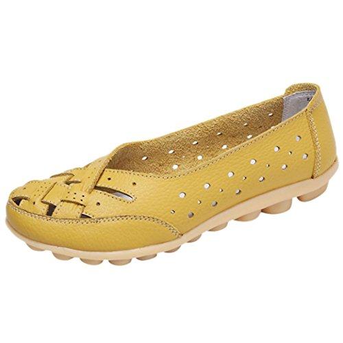 QinMM para Sandalias Amarillo Zapatos Merceditas Mocasines Zapatos Zapatillas Verano Mujer Alpargatas Respirable Y rq1rxFpB