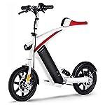 417RSY4qurL. SS150 Elettrico Pieghevole Deposito Auto, Bici Elettrica Pieghevole, Comodo E Veloce Pendolarismo età Due Ruote Mini Pedal…