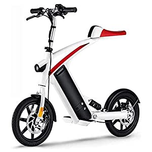 417RSY4qurL. SS300 Bici Elettrica, età Due Ruote Mini Pedal Electric Car Facile Folding And Carry Design con Data Display LCD Porta USB di…