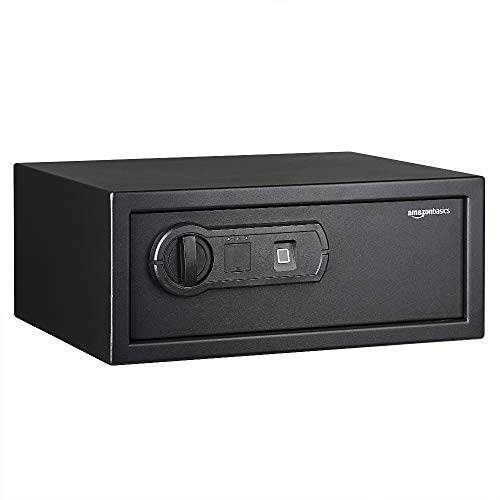 AmazonBasics Biometric Fingerprint Home Safe, 0.7 Cubic Feet