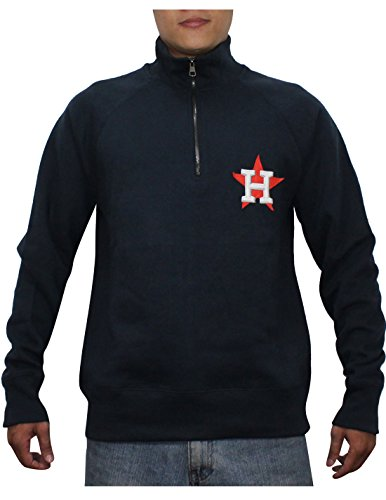 1/4 Zip Thermal Hooded Pullover - SPORTS SHACK USA HOU ASTROS Mens Athletic 1/4 Zip Pullover Thermal Sweatshirt S Dark Blue
