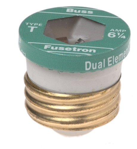 Price comparison product image Bussman BP/T-6-1/4 Heavy Duty Time Delay Plug Fuse