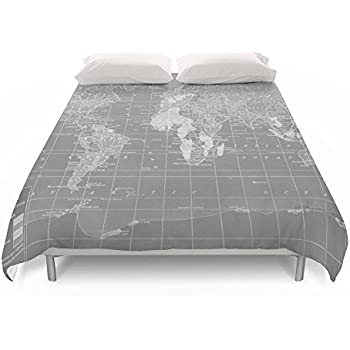 Amazon society6 lets get lost world map duvet covers queen 88 society6 world map duvet covers queen 88 gumiabroncs Images