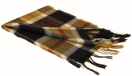 I Luv LTD Bannockbane Navy Tartan Echarpe en laine dagneau moderne