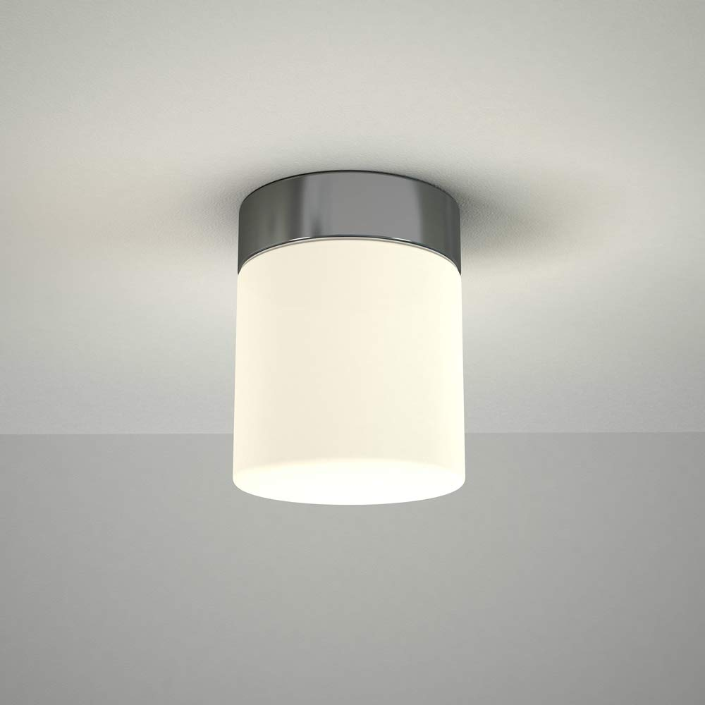 Milano Tama 6W LED Round Chrome Bathroom Ceiling or Wall Light - IP44 Waterproof - Warm White (3000K) with Frosted Opal Glass Diffuser