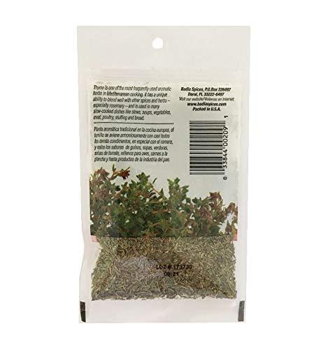 2 Bags Whole Thyme Leaves/Tomillo Entero Kosher 2x0.5 oz
