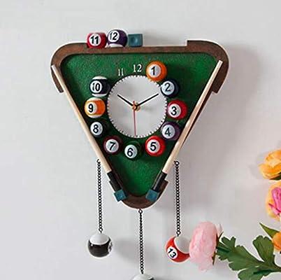 MYYDD Reloj Creativo, Reloj De Pared del Billar, Reloj De Pared ...