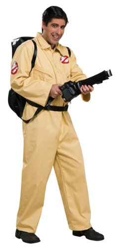 Ghostbusters Deluxe Jumpsuit, Beige, One Size (Ghostbusters Costume Men)