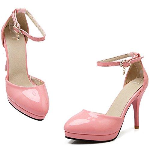 Cheville Femmes Rose TAOFFEN Elegant Chaussures Aiguille Sandales Soiree Bride Talons YAcP7wxUq