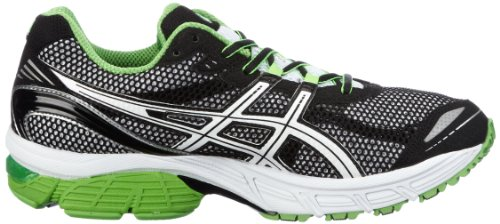ASICS GEL - PULSE 4 - Zapatillas de running para hombre, tamaño 47 UK Schwarz (Black/White/Neon Green 9001) (Schwarz (Black/White/Neon Green 9001))
