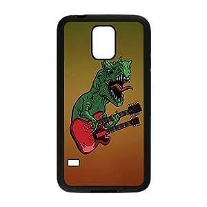 Samsung Galaxy S5 Cell Phone Case Black Rocking Dino SP4171285