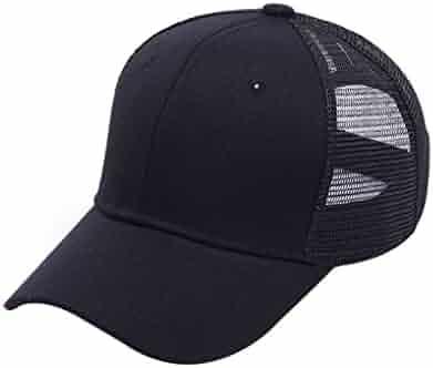 36a55ca6a0c Harmily Women Adjustable Ponytail Baseball Cap Girl Snapback Outdoor Caps  Female Summer Hats Mesh Net Trucker