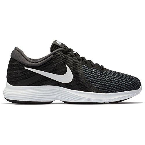 Nike Mujeres Revolution 4 Running Shoe Wide Negro / Blanco / Antracita