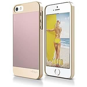 iPhone SE case, elago [Outift][Champagne Gold / Lovely Pink] - [Premium Hybrid Construction][Aluminum][Spark Design Award] - for iPhone SE/5/5S