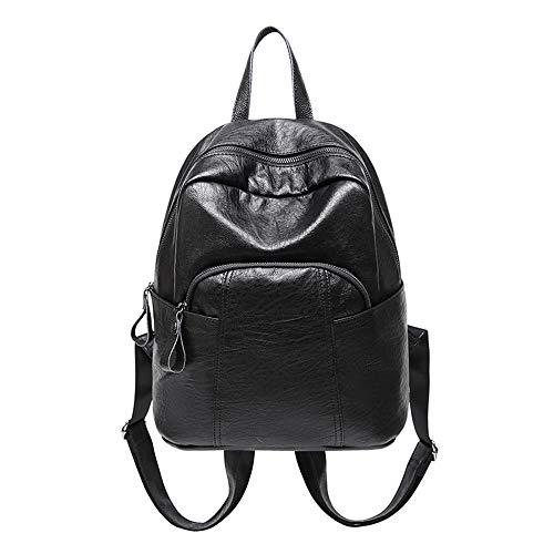 Rugzak Schoudertassen Portemonnee De Lederen Casual kleur Vrouw Yuflangel schoudertas Mode tas Zwart dames Mini School zwart C5vTxfqw
