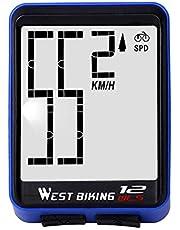 EMMETTBEN Fietscomputer, draadloos, waterdichte fietssnelheidsmeter met achtergrondverlichting, groot lcd-scherm, draadloze snelheidscomputer
