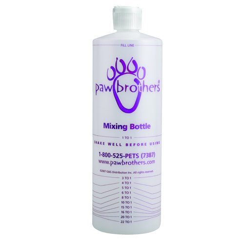 Dogs 32 Ounce Bottle (Paw Brothers Mixing Bottle for Pets, 32 oz)