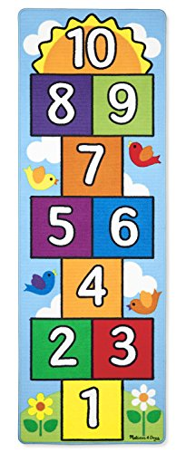 Hopscotch Game Rug (Melissa & Doug Hop and Count Hopscotch Game Rug  (3 pcs, 78.5 x 26.5 inches))