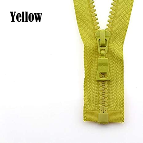 30cm,Army Green LY Size 5# 3pcs 30//40//55//60//70//80//90cm Open-end auto Lock ECO Colorful Plastic Resin Zipper for Clothes Garment