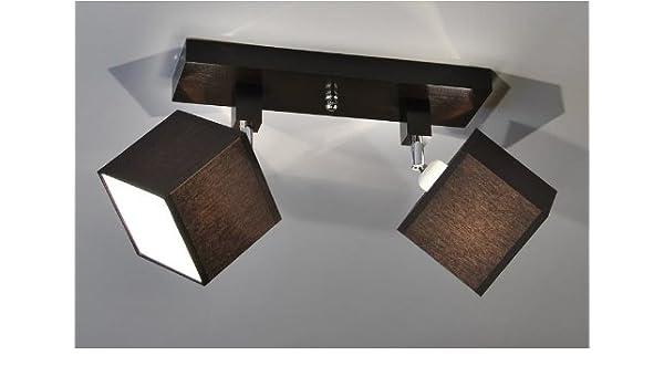 Kaiser-Handel lámpara bombilla Retro Foco Salon Bar mostrador E27 Power LED New York 9, Sockelfarbe: Wenge, Sockel: 36x10cm Schirm: Höhe 12cm Breite ...