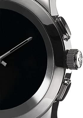 MyKronoz ZeTime Original Reloj Inteligente híbrido 44mm con Agujas mecánicas sobre una Pantalla a Color táctil – Regular Cepillado Plateado/Silicona ...