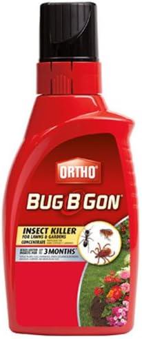 Ortho Bug B - Insecticida concentrado para césped y jardín, mata más de 230 tipos de insectos, incluyendo mosquitos.: Amazon.es: Jardín