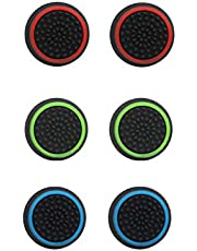 Thumb grips,【3 Pair Thumb Cover】Silicone Analog Thumb grip, Controller Covers for PS4, PS5, Xbox, Nintendo Switch Pro Controller etc (2020 AU New Thumb Caps)