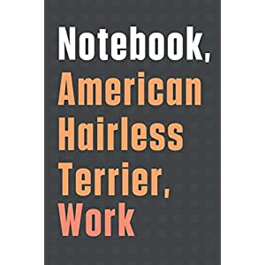 Notebook, American Hairless Terrier, Work: For American Hairless Terrier Dog Fans 27
