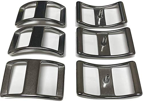 Multi-Pack of Conway Buckles, 100% Stainless Steel, Pack of 6, Rust-Free, Ideal for Use On Pack Saddles and Tack, Or Any Application That Requires Strap Length Adjustment (1 1/2