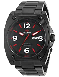 Precimax Men's PX13212 Fortis Automatic Black Dial Black Stainless-Steel Band Watch