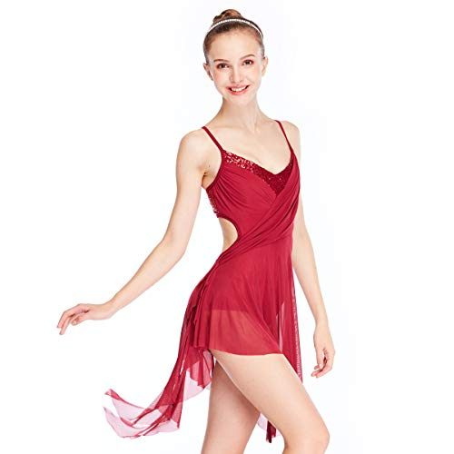 Dance Competition Contemporary Costumes - MiDee Lyrical Dresses Contemporary Costume Sequins