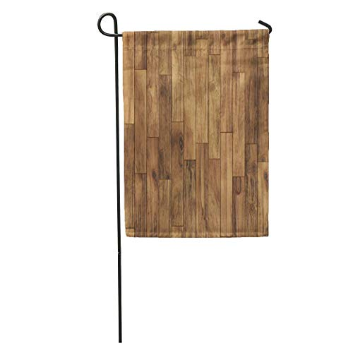 (Andrea Back Garden Flag Brown Wood Parquet Pattern Floor Wooden Plank Dark Oak Laminate Home Yard House Decor Barnner Outdoor Stand 12x18 Inches Flag)