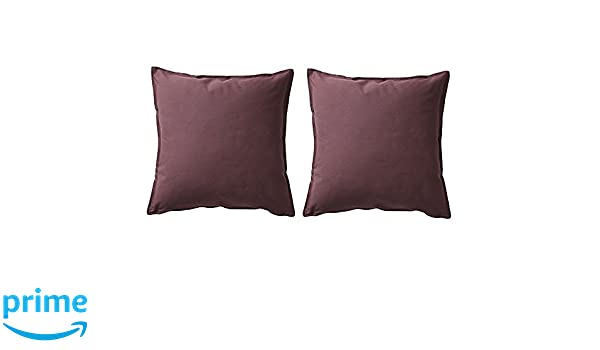 Amazon.com : IKEA GURLI Cushion Covers, Dark Red - Brown ...