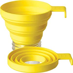 Lamson Collapsible Funnel, Yellow, Silicone, Large