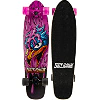 "Tony Hawk 31"" Complete Cruiser Skateboard - Pink Hawk Graphic Longboard"