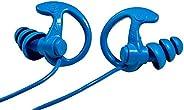 SureFire EP9 Sonic Defenders Cobalt Max Full-Block Metal Detectable Earplugs, Triple flanged Design, Reusable