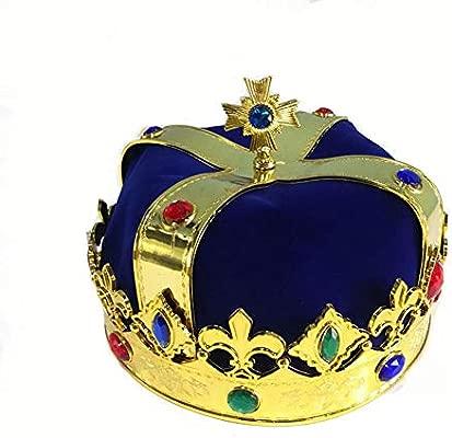 Corona de Rey y Real con Cetro para Niños y Adultos Cosplay ...