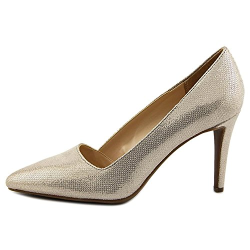 Bar III Womens Joella Pointed Toe Classic Pumps, Metallic, Size 8.5 (Classic Metallic Pumps)