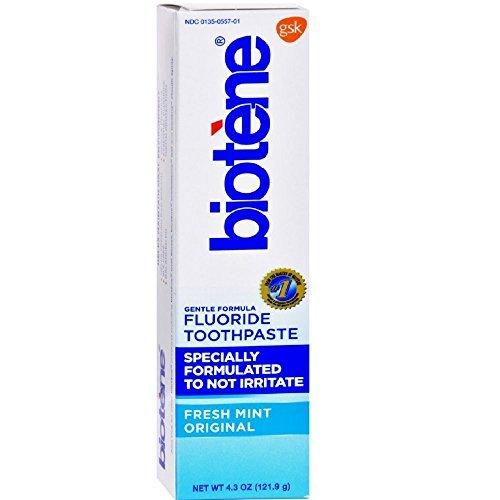 Daily Fluoride Mint Toothpaste (Biotene Gentle Formula Fluoride Toothpaste, Fresh Mint 4.3 oz ( Pack of )