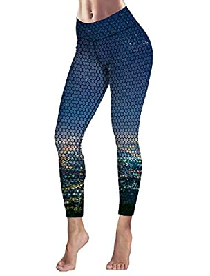 Women's Capris Printed Custom Leggings City Night Scene High Waist Yoga Running Workout Pants