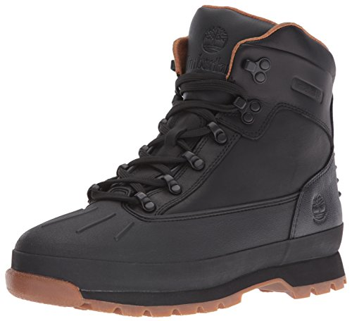 Timberland Mens Euro Hiker Shell Toe WP Winter Boot Black Tbl Forty Full Grain