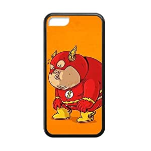 The Flash Little Pig For HTC One M7 Phone Case Cover Black
